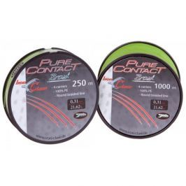 Iron Claw šnůra  Pure Contact Braid 250 m green 0,08mm, 4,55kg
