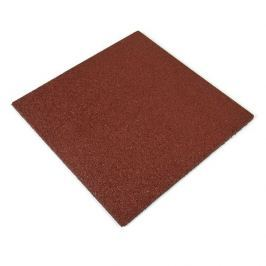 Červená gumová dlaždice - 50 x 50 x 2,5 cm