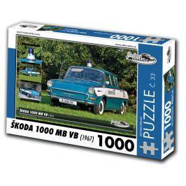 RETRO-AUTA© Puzzle č. 33 - ŠKODA 1000 MB VB (1967) 1000 dílků