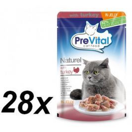 PreVital NATUREL dušené filetky krůtí v želé 28 x 85 g