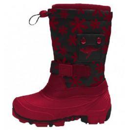 KangaROOS dívčí sněhule Kanga-Bean 28 červená