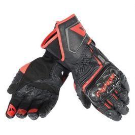 Dainese rukavice CARBON D1 LONG vel.L černá/černá/fluo červená, kůže (pár)