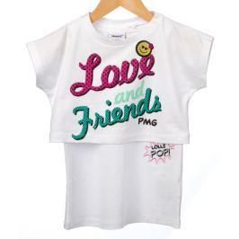 Primigi dívčí tričko 98 bílá
