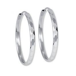 Brilio Silver Náušnice stříbrné kruhy 431 158 00027 - 3,74 g stříbro 925/1000