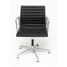 Mørtens Furniture Konferenční židle Magnum, pravá kůže, černá