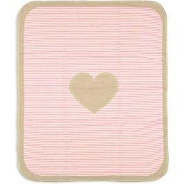 David Fussenegger Deka JUWEL 70×90 cm Srdce - růžová