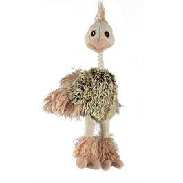 Trixie Plyšový pštros s dlouhým peřím 35 cm