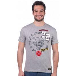 Brave Soul pánské tričko Wild S šedá