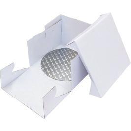 PME Podložka dortová stříbrná kruh průměr 33cm + dortová krabice