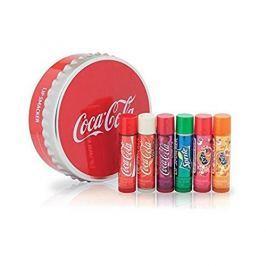 Lip Smacker Sada balzámů na rty s příchutí limonád Coca Cola (Tin Box) 6 ks