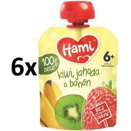 Hami kapsička kiwi, jahoda a banán 6x90g