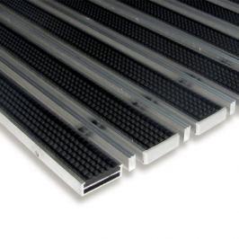 FLOMAT Gumová hliníková čistící venkovní vstupní kartáčová rohož Alu Low Extra - 60 x 90 x 1 cm