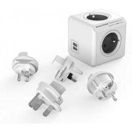 PowerCube ReWirable USB + Travel Plugs, Grey - II. jakost