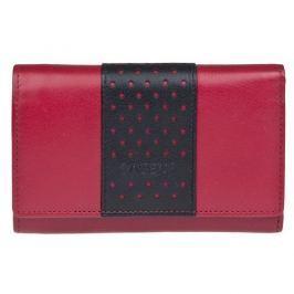 Lagen Dámská kožená peněženka Red/Black V16