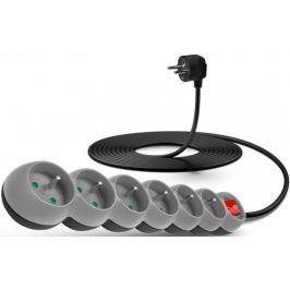 Connect IT Prodlužovací kabel (6 zásuvek; 5 m), šedá