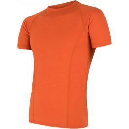 Sensor Merino Air pánské triko kr.rukáv tm.oranžová L