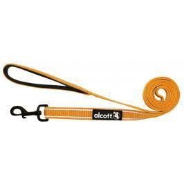 Alcott Nylonové vodítko s reflexními prvky oranžové 180 cm oranžová S