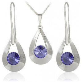 MHM Souprava šperků Karen 2 Tanzanite 34178 stříbro 925/1000