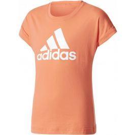 Adidas YG Logo Tee Easy Coral/White 128