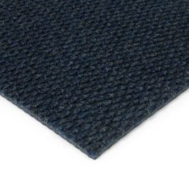 FLOMAT Modrá kobercová zátěžová vnitřní čistící zóna Fiona - 100 x 100 x 1,1 cm