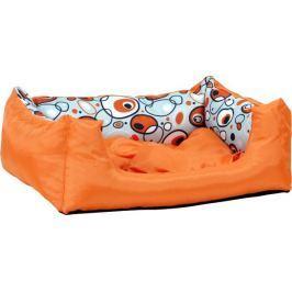 Argi pelech obdélníkový s polštářem se vzorem Oranžový vel. S