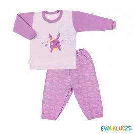 Ewa Klucze dívčí pyžamo Little Moon se zajíčkem 80 fialová
