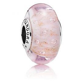 Pandora Skleněný růžový korálek 791670 stříbro 925/1000