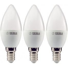 Tesla LED žárovka CANDLE svíčka, E14, 5W 3pack
