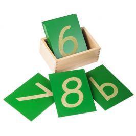 Montessori pomůcky Smirkové číslice skrabičkou