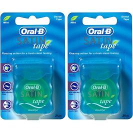 Oral-B Dentální páska Satin Tape Mint 2x 25 m