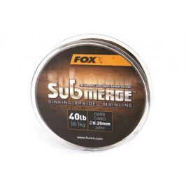 Fox Pletená šňůra Submerge Dark Camo 0,30 mm 50 lb 300 m