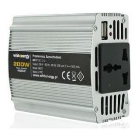 OEM WE Měnič napětí DC/AC 12V / 230V, 200W, USB (06577)
