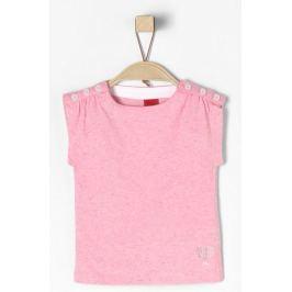 s.Oliver dívčí tričko 74 růžová