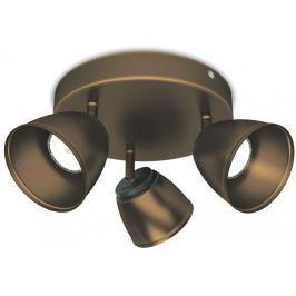 Philips Trojité bodové LED svítidlo, hnědá - II. jakost