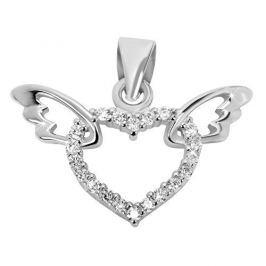 Brilio Silver Stříbrný přívěsek Srdce s křídly 446 158 00041 04 - 1,10 g stříbro 925/1000