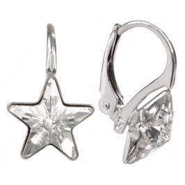 Troli Dívčí stříbrné náušnice Star 10 mm Crystal stříbro 925/1000