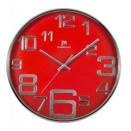 Lowell Designové nástěnné hodiny 00820R červená