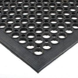 Černá gumová olejivzdorná protiskluzová protiúnavová průmyslová modulární rohož - 150 x 90 x 1,25 cm