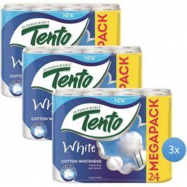 Tento White Cotton Whiteness 2 vrstvý 3 x 24 rolí