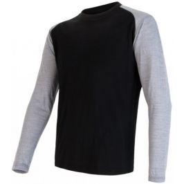 Sensor Merino Active PT Logo pánské triko dl.ruk. černá/šedá M