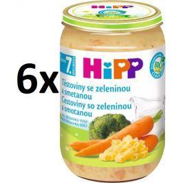 HiPP Těstoviny se zeleninou a smetanou - 6x220g