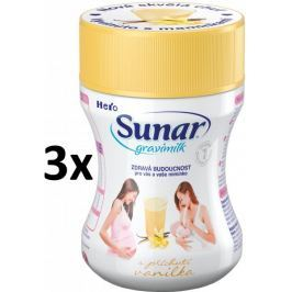Sunar Gravimilk s přichutí vanilky 3x300g