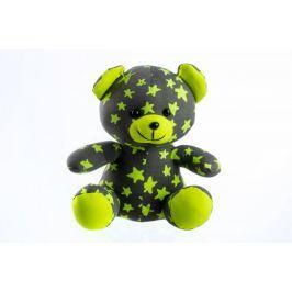 Teddies Medvídek svítící ve tmě 21 cm šedý/žlutý