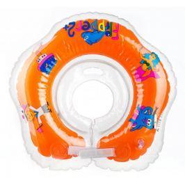 Teddies BABY Plavací nákračník Flipper oranžový