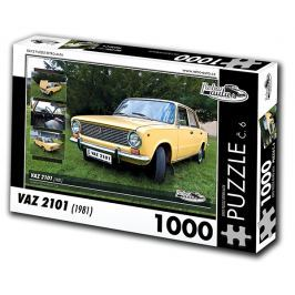 RETRO-AUTA© Puzzle č. 06 - VAZ 2101 (1981) 1000 dílků