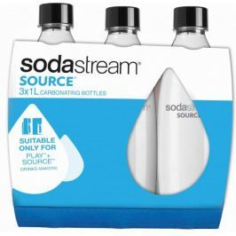 Sodastream Láhev 1 l SOURCE/PLAY 3Pack černá