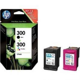 HP č.300 dvojbalení černé/tříbarevné originální inkoustové kazety (CN637EE)