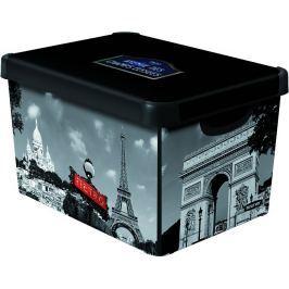 Curver Dekorativní úložný box Paříž 25 l