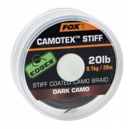 Fox Návazcová Šňůrka Camotex Dark Stiff 20 m 15 lb, 6,8 kg