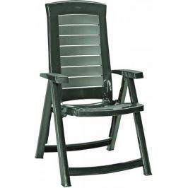 Allibert ARUBA zahradní židle polohovací, zelená